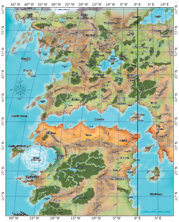 Dungeonetics Golarion Geographical Maps